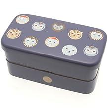Kotobuki 280-263 2-Tiered Bento Box, Twilight Purple Night Owls