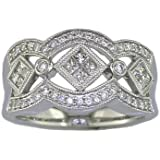 Bague Femme Diamant (1/2 Karat) T54, Or blanc 585/1000