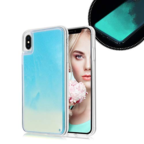 Losin Fluorescent Case Compatible with Apple iPhone 6 / iPhone 6S 4.7 Inch Case Luxury Glow in The Darkness Noctiluncent Liquid Luminous Sand Hard PC + Soft TPU Fluorescent Case (Glow In The Dark Phone Case Iphone 6)