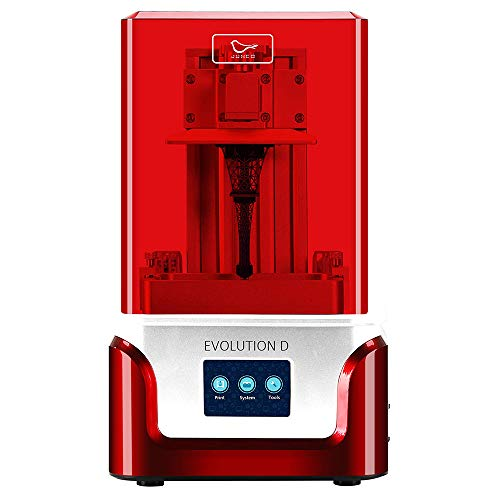 """2020 JUNCO Evolution D 3D Printer, UV LCD Resin Printer with Dual Z axis Liner Rail, 3.5 Inch Touch Screen, Build Size 4.52""""(L) X 2.55""""(W) X 5.9""""(H, Equipped with Friendly Resin, White"""
