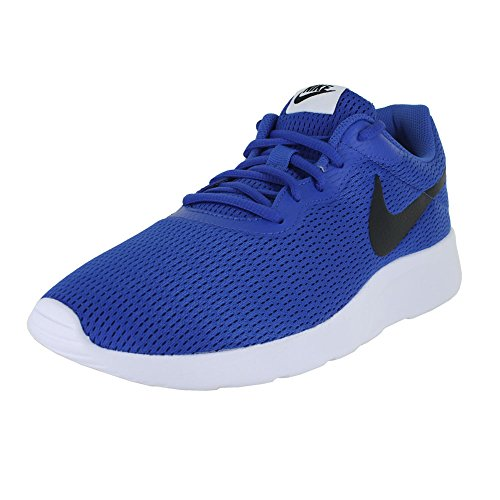 Nike Men's Tanjun Running Sneaker Game Royal Black White 11 Soccer Turf