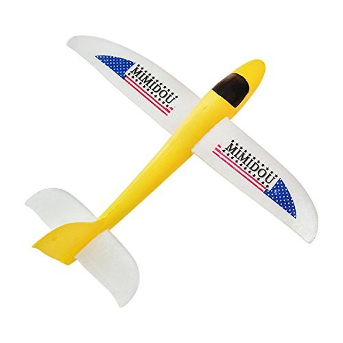 Glider Plane Foam Throwing Airplane styrofoam Aircraft Model Outdoor Sports Flying Toy for Kids as Gift,by MIMIDOU