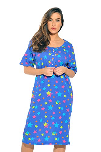 4360-R-10073-2X Just Love Short Sleeve Nightgown / Sleep Dress for Women / Sleepwear (Plus Size Teen)