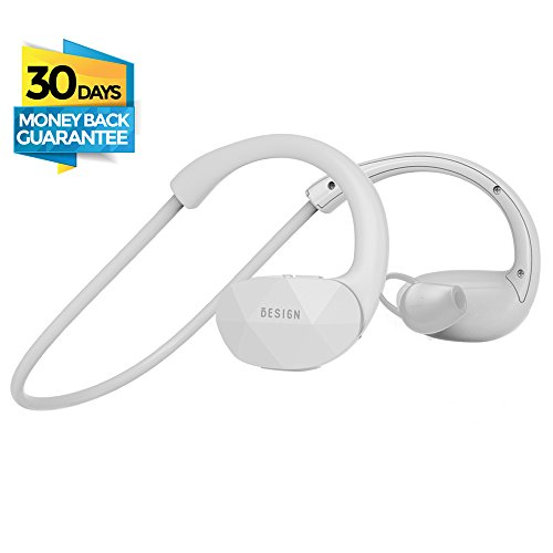 Besign SH01 Bluetooth V4.1 Headphones, Wireless Stereo Sports Headsets, Running Gym Exercise Sweatproof Earphones, Earbuds with Built-in Mic for Hands Free (Behind The Neck Sport Headphones)