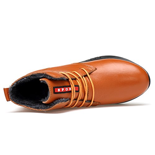 Salabobo QYY-6705 Womens New Fashion Leisure Sweet Lovely Flat Warm Wool Comfy Dress Shoes Brown UK Size5.5 Il2gTfT0xI