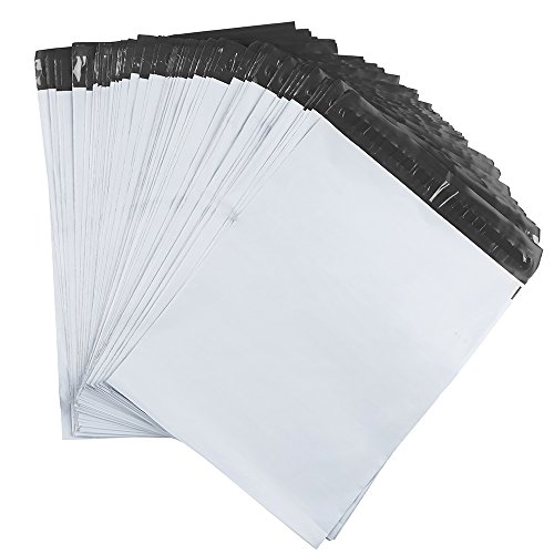 Metronic 100 Pcs 9x12 White Poly Mailer Envelopes Shipping Bags with Self Adhesive, Waterproof and Tear-proof Postal Bags (White)