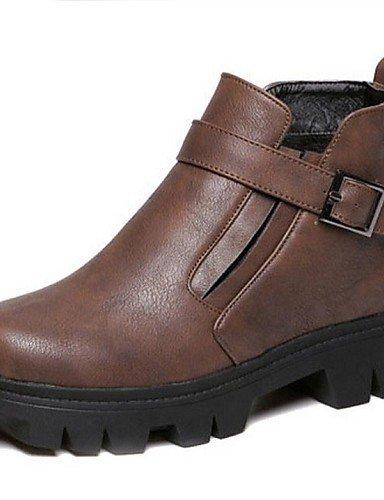Eu38 Zapatos Exterior Cn39 Brown Marrón Plataforma Eu39 us7 Brown Negro Redonda Casual Punta Mujer 5 Semicuero Uk5 Cn38 us8 Botas De Uk6 5 Anfibias Xzz Cxpd1wp