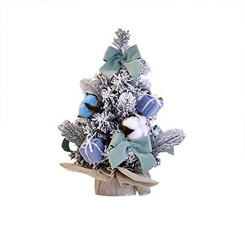 Wffo Artificial Tabletop Mini Christmas Tree Decorations, Festival Miniature Tree 30cm (Blue) ()