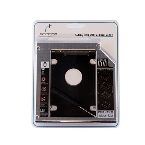 SATA 2nd 2.5'' Hard Drive Caddy for 12.7mm Universal CD/DVD-ROM - Expand your data storage on your Laptop with HDD/SSD by SaiTech IT