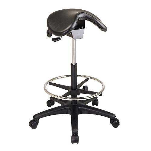 OSPST205 - Office Star ST205 Backless Saddle Seat Stool by Office Star