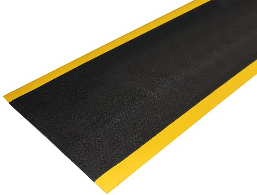 Durable Corporation Ultra-Safe Anti-Fatigue Mat Roll, 36'' Width x 60' Length, Black with Yellow Border by Durable Corporation