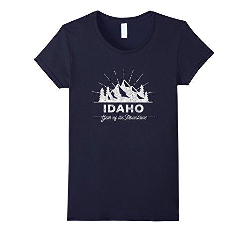 Womens Idaho T Shirt Vintage Hiking Retro Tee Design Medium Navy