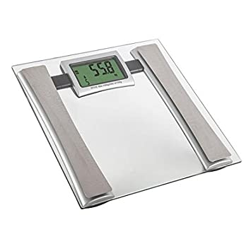 Carmen C19001 Battery Operated Glass Bathroom Scale - Silver ...