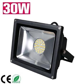 100W LED Fluter Garten Außen Strahler Leuchte Scheinwerfer Warmweiß IP65 SMD