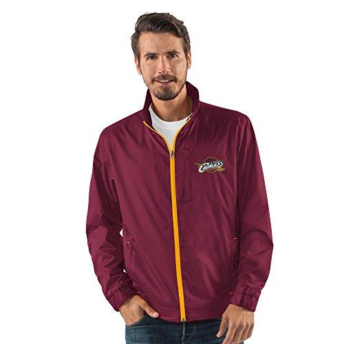 G-III Sports NBA Cleveland Cavaliers Men's Breaker Full Zip Jacket, Large, - Licensed Zip Jacket Full