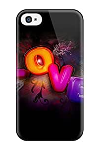 Excellent Iphone 4/4s Case Tpu Cover Back Skin Protector Hd Loves For Desktop