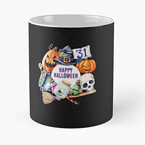Halloween Happy Monster Vampire - 11 Oz Coffee