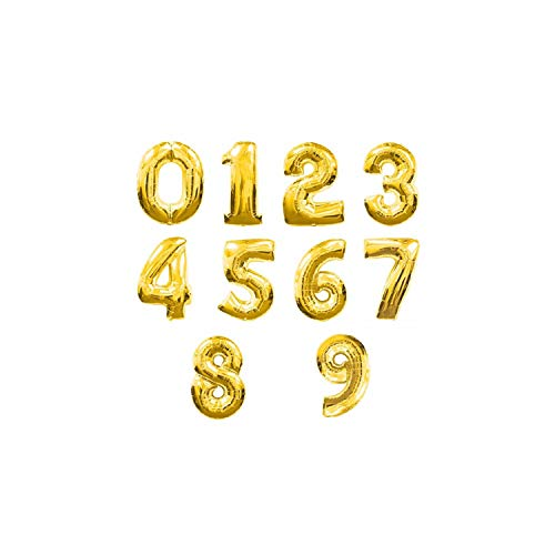 16 Inch 32inch 40 Inch Gold Silver Pink Blue 0 9 Number Balloon Figure Digit Foil Birthday Party Wedding Decoration Balloons,Gold,5,40inch