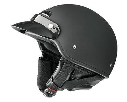 Gloss Black, Medium Raider Deluxe Half Helmet