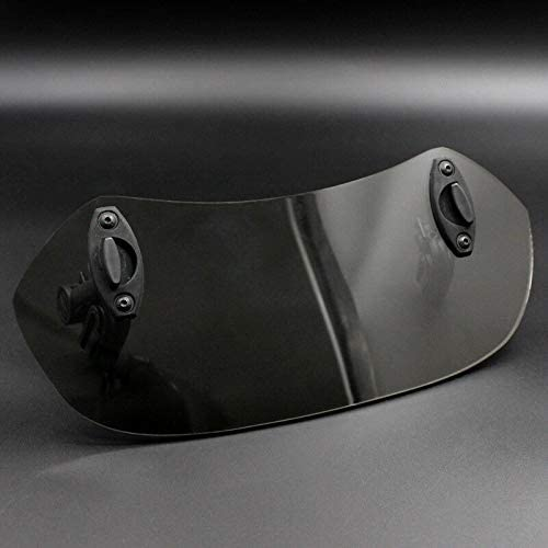 Tuneway Adjustable Clip on Windshield Extension Spoiler Wind Deflector for Motorcycle Black