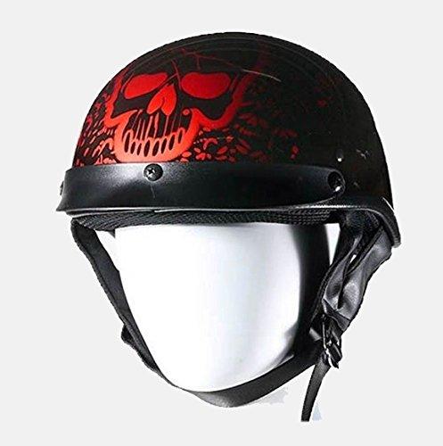 Burgundy Motorcycle Helmet - 7