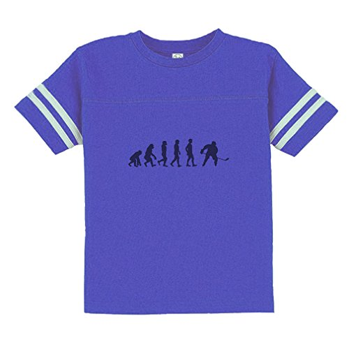 Evolution of Ice Hockey Toddler Football Jersey T-Shirt Tee Royal Blue - Hockey Evolution Jersey