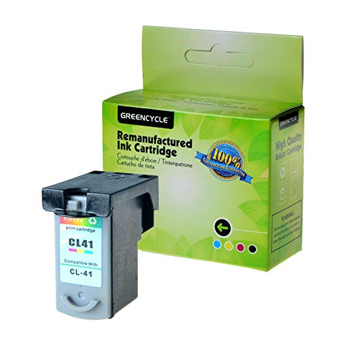 GREENCYCLE Remanufactured CL41 CL-41 Tri-Color Ink Cartridge Replacement for Canon FAX JX200 PIXMA iP1600 iP1800 MP180 MP450 MX310 Printer