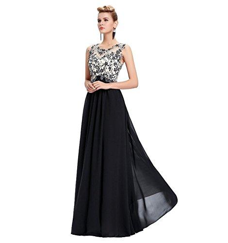 Schwarz Drasawee Damen Empire Kleid Drasawee Damen WcTcY