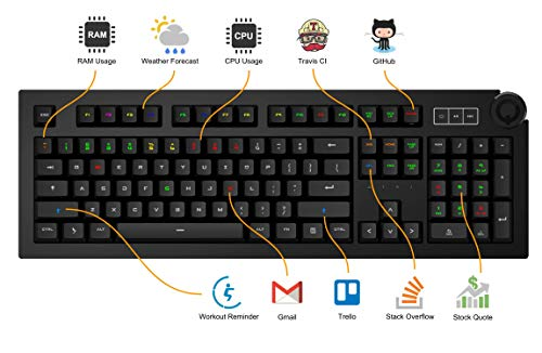 Das Keyboard 5Q Soft Tactile RGB Smart Mechanical Keyboard (DKPK5Q0P0GZS0USX) by Das Keyboard (Image #6)