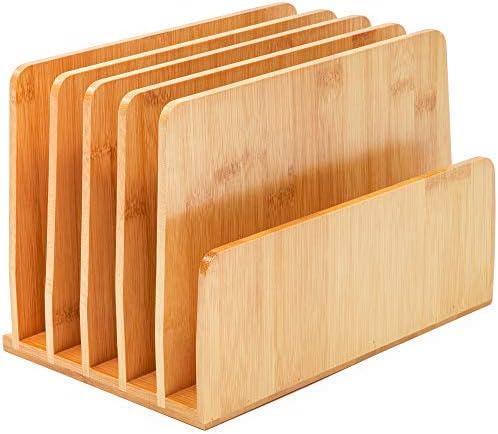 [해외]Paper Junkie Bamboo Wood Desk File Organizer Upright 10 x 6.5 x 7 Inches / Paper Junkie Bamboo Wood Desk File Organizer, Upright, 10 x 6.5 x 7 Inches