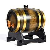 1.5L Wine Oak High-Grade Decorative Barrel Keg Bucket Hotel Restaurant Exhibition Display Wooden Product Oak Barrels,Gold