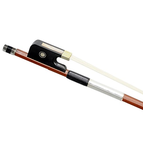 ADM 1/2 Half Size Brazilwood Octagonal Horse Hair Cello Bow, Well Balanced for Beginners and (Half Bow)