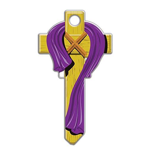 Lucky Line Key Shapes, CROSS, House Key Blank KW/11, 1 Key - Blank Cross