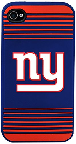 New York Giants Team Logo Silicone Apple iPhone 4 & 4S Case ()