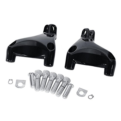 Kit Footboard (INNOGLOW Motorcycle Footrest Footboards Footpegs kit Fit For Harley Davidson Sportster XL 883/1200 Super Low Iron 883 Forty Eight XL1200X Seventy Two XL1200V)