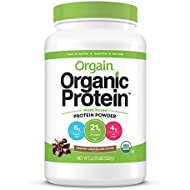 Orgain Organic Plant Based Protein Powder, Creamy Chocolate Fudge - Vegan, Low Net Carbs, Non Dairy, Gluten Free, Lactose Free, No Sugar Added, Soy Free, Kosher, Non-GMO, 2.03 Pound