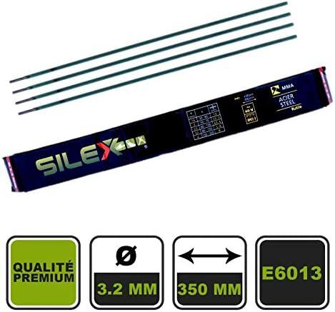Silex France /® Electrode de soudure Type de baguette Rutile Diam/ètre Longueur 300 mm Nombre de baguettes x50 3,2 mm