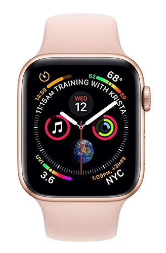 APPLE Watch 4 40MM Gold Aluminum CASE with Pink Sand Sport Band (Renewed)