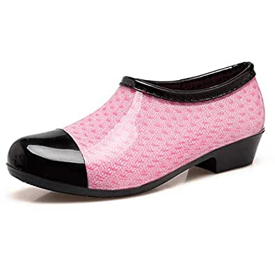 Centipede Demon Rain Shoes for Womens Girls Waterproof Non-Slip Ankle Rain Shoes Size: 5.5 M US Women.