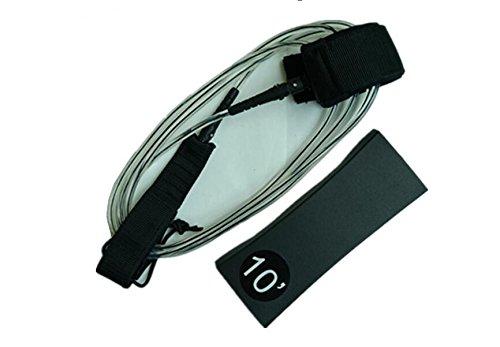 Adjustable Bodyboard Surf Board Coiled Bicep Cuff Strap Wrist Leash w// Plug