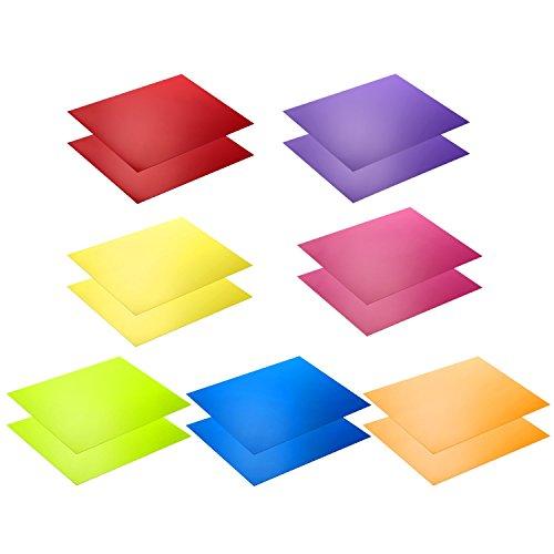 Neewer Kit de 14 piezas Filtro de Gel de Iluminacion con 7 Colores Diferentes - 28 x 22 cm Lamina de Correccion de Color Transparente Laminas Plasticas de Pelicula