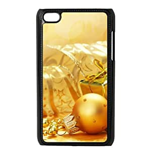 Customized Merry Christmas Gift Rubber Plastic Cover Case For iPod Touch 4th Generation