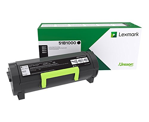 Lexmark 51B1000 MS317dn MX317dn MS417dn MX417de MS517dn MX517de MS617dn MS617de Return Program Cartridge Toner