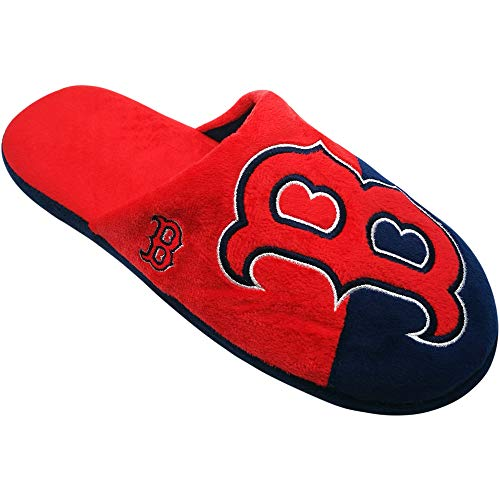 (FOCO Boston Red Sox Men's Colorblock Big Logo Slide Slippers X-Large (13-14))