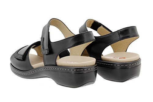 180802 Sandali Negro Scarpe estradibile Plantare Donna PieSanto Piel Comfort gaFq6wcHW