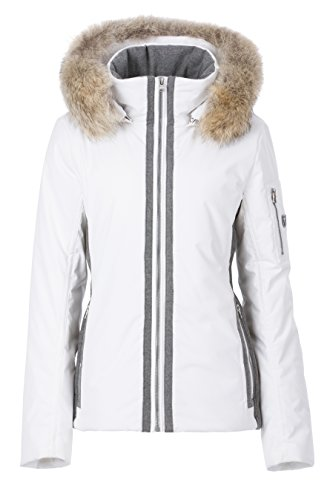 Fera Women's Danielle Parka with Real Fur, 6, 102 White (Fera White Jacket)