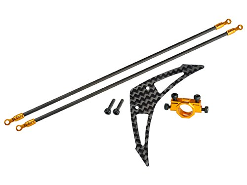 Microheli Aluminum/Carbon Fiber Tail Boom Support Mount set (GOLD) - BLADE 230S / 250CFX