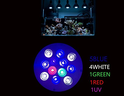 dlpj arrecife de incluye bombilla Uv de 36 W LED acuario luz LED Full Espectro de ...