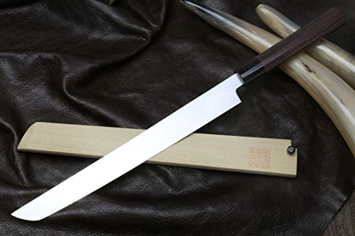 Yoshihiro Hongasumi White Steel Sakimaru Takobiki Sushi Sashimi Japanese Knife (10.5'' (270mm)) by Yoshihiro (Image #2)