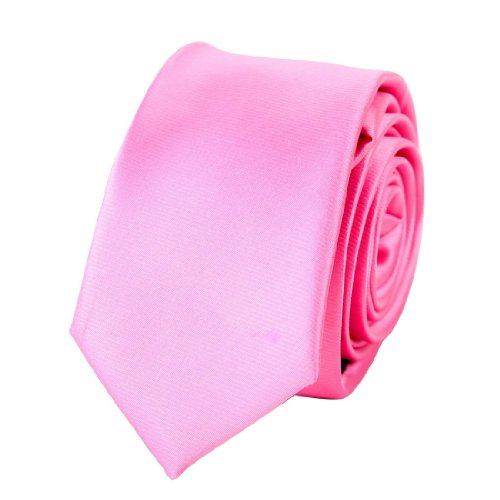 Pink plain Slim tie Matching Gift Box Set Light Pink valentines day PS1022 One Size Light Pink